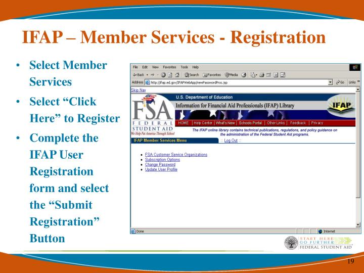 IFAP – Member Services - Registration