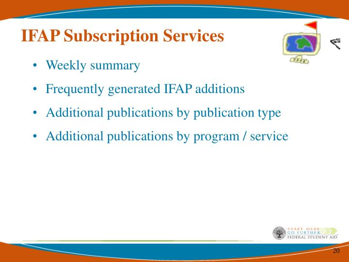 IFAP Subscription Services
