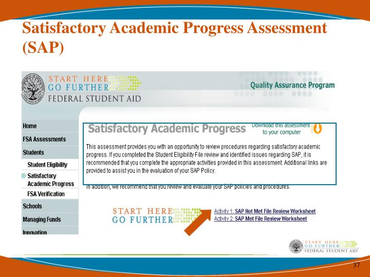 Satisfactory Academic Progress Assessment