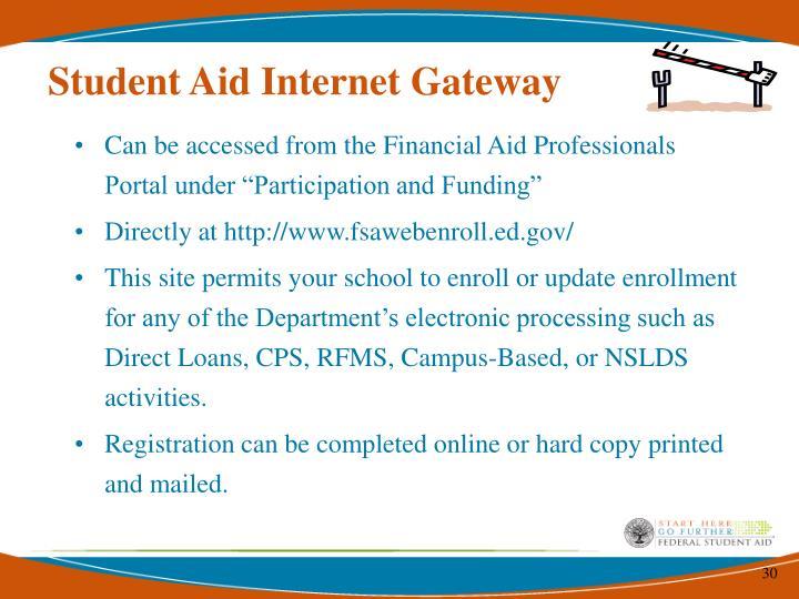Student Aid Internet Gateway
