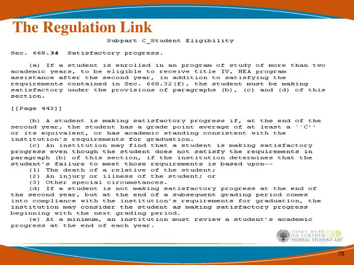 The Regulation Link