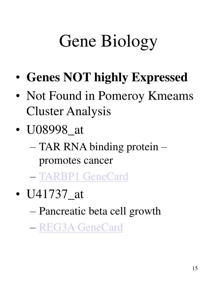 Gene Biology