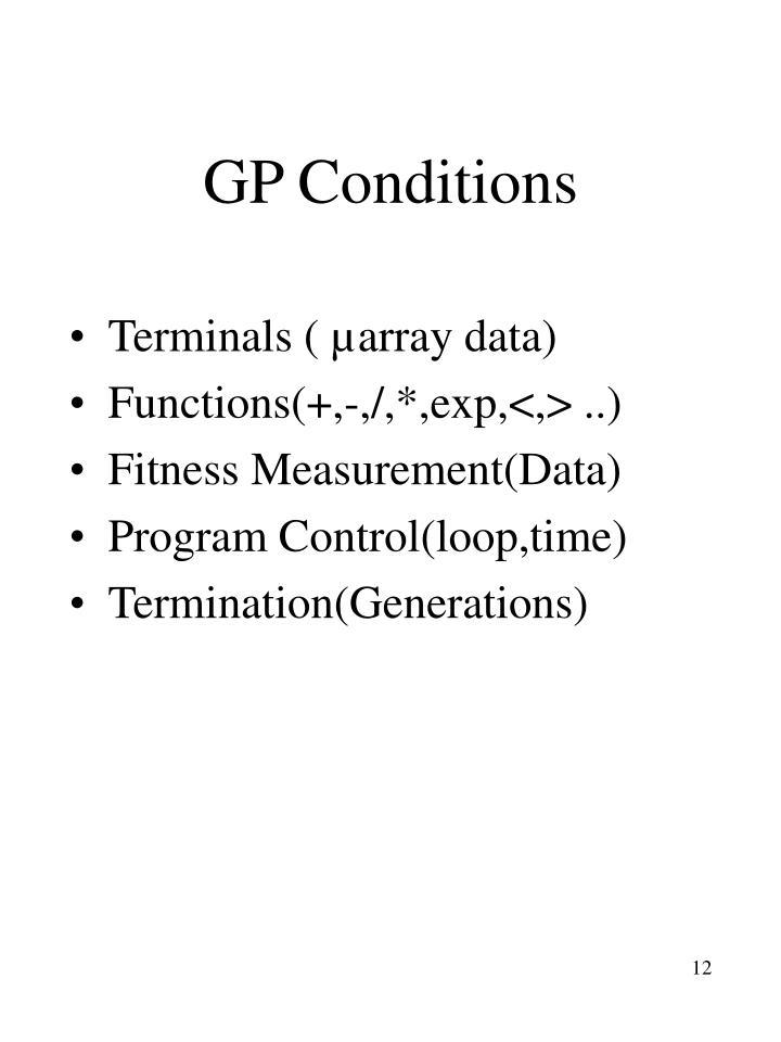 GP Conditions
