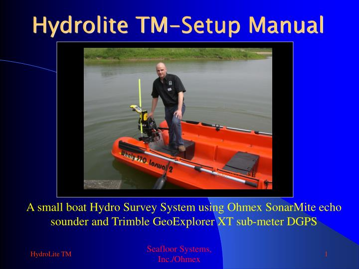 Hydrolite tm setup manual