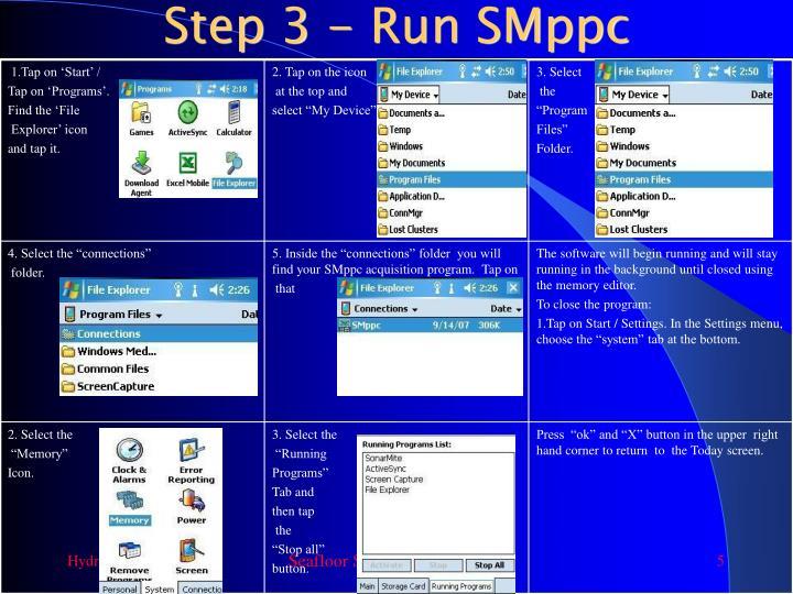 Step 3 - Run SMppc