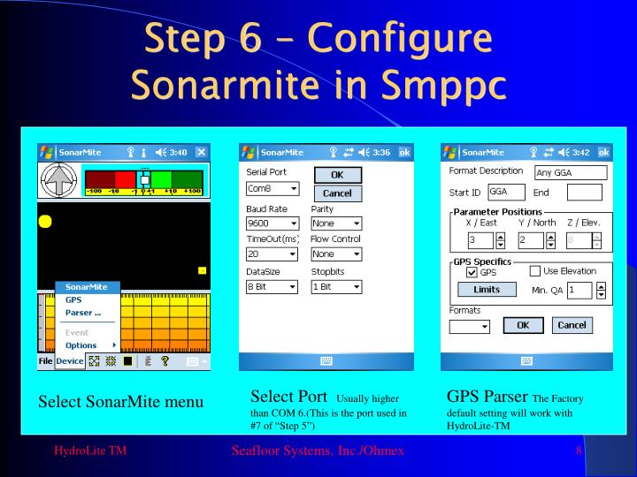 Step 6 – Configure Sonarmite in Smppc