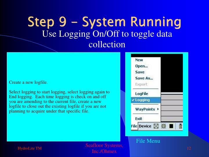 Use Logging On/Off to toggle data collection