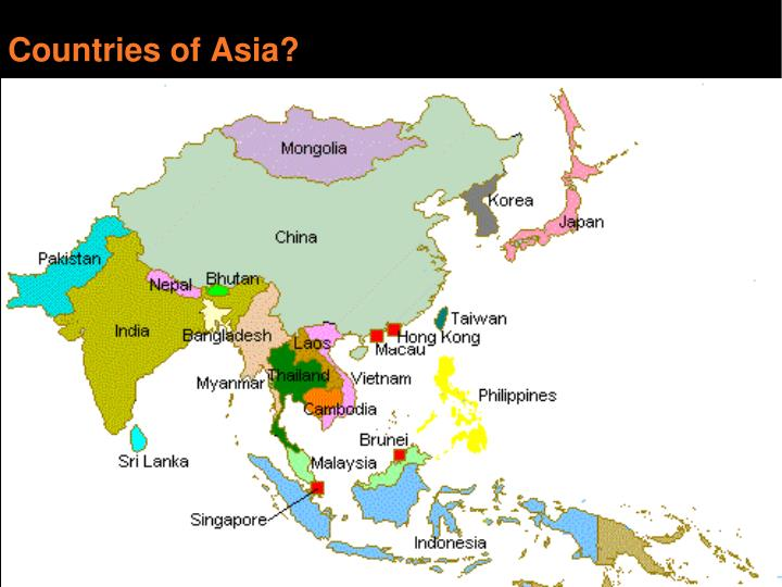 Countries of Asia?