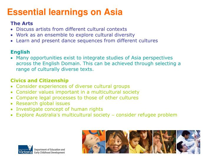 Essential learnings on Asia