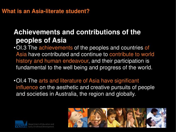 What is an Asia-literate student?