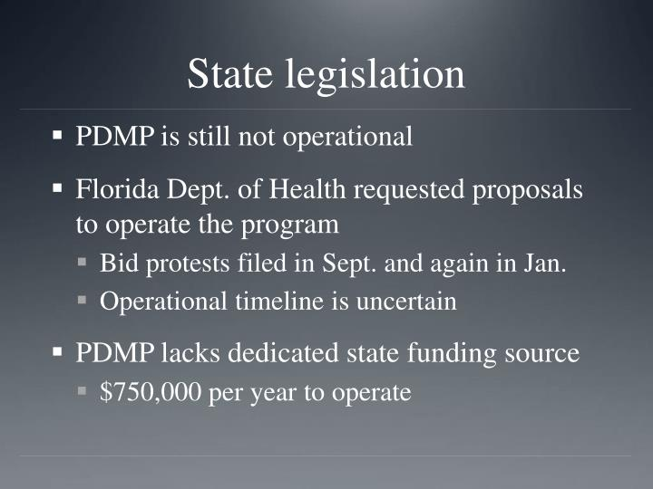 State legislation