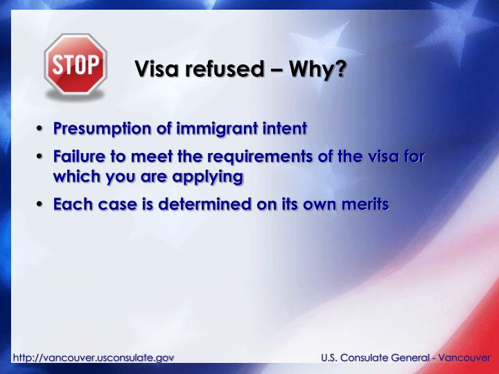 Visa refused – Why?