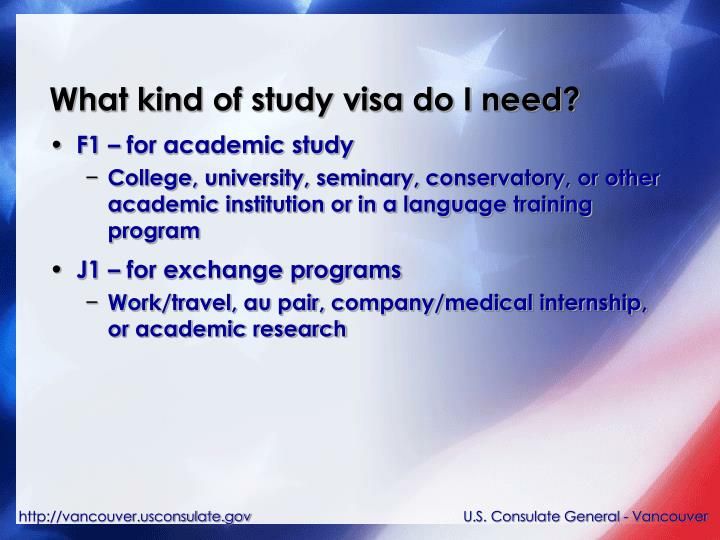 What kind of study visa do I need?