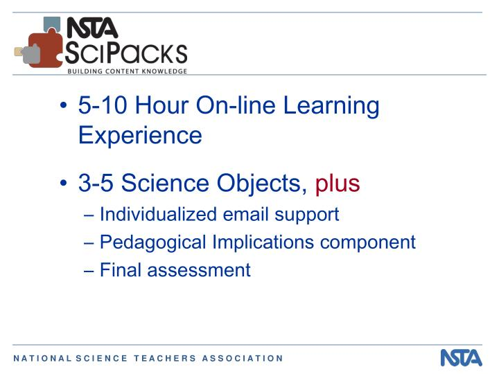 5-10 Hour On-line Learning Experience
