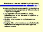example of a secure software policy con t