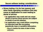 secure software testing considerations1