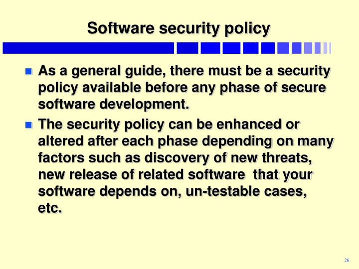 Software security policy