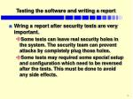 testing the software and writing a report1