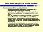write a real test plan for secure software1