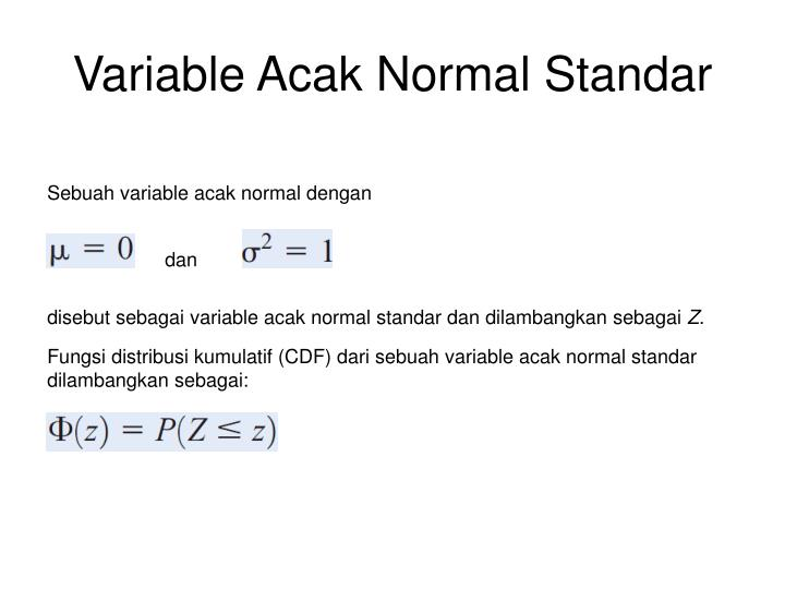 Variable Acak Normal Standar