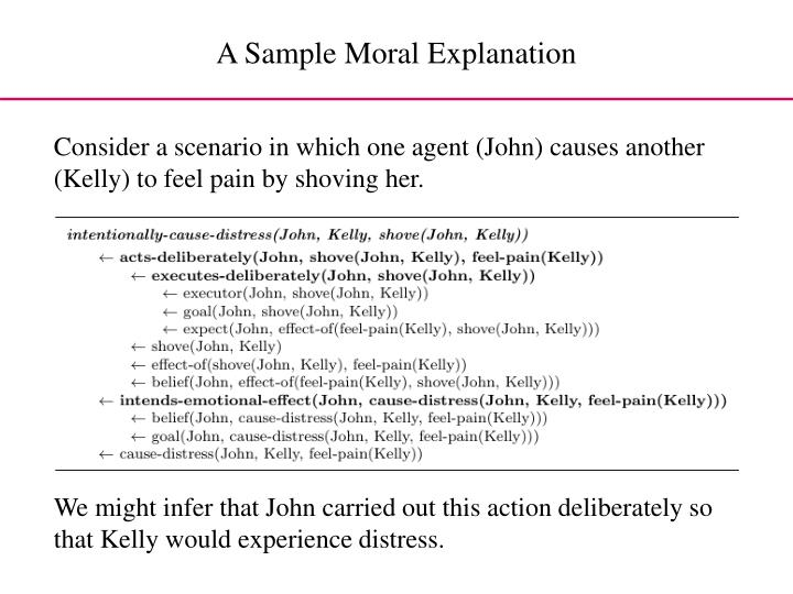 A Sample Moral Explanation