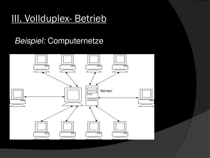 III. Vollduplex- Betrieb