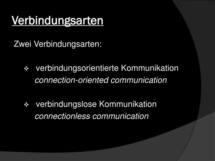 Verbindungsarten