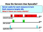 how do servers use syscalls