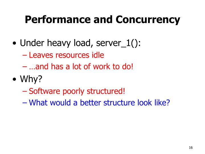 Performance and Concurrency