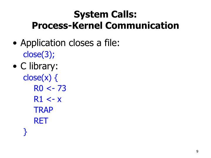 System Calls: