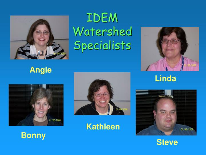 IDEM Watershed Specialists