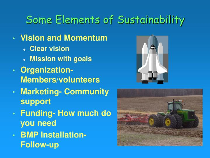 Some Elements of Sustainability