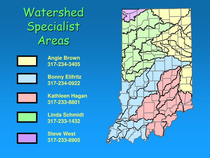 Watershed specialist areas