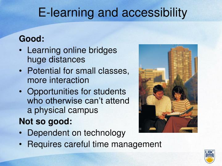 E-learning and accessibility