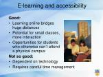e learning and accessibility