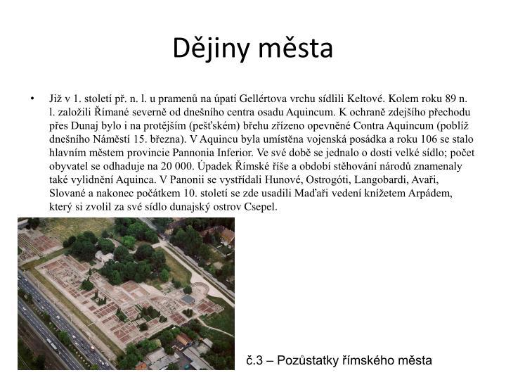 Dějiny města