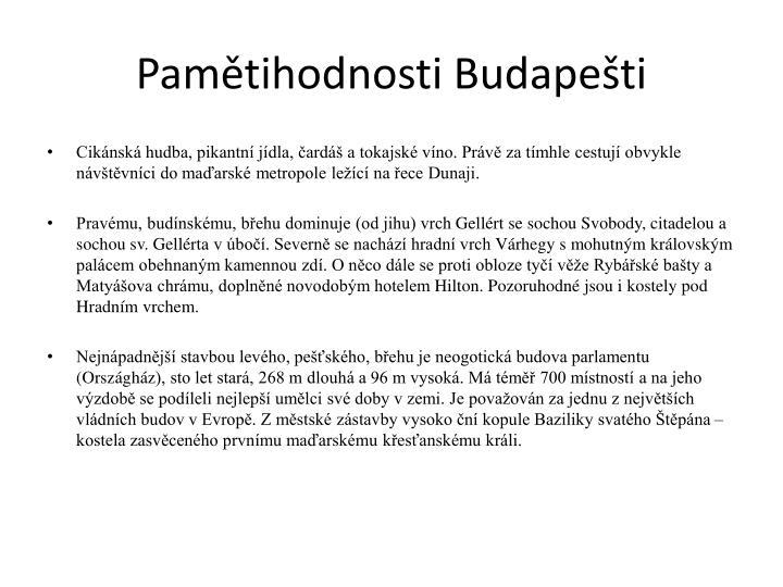 Pamětihodnosti Budapešti