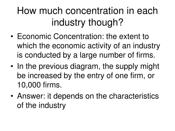 How much concentration in each industry though?