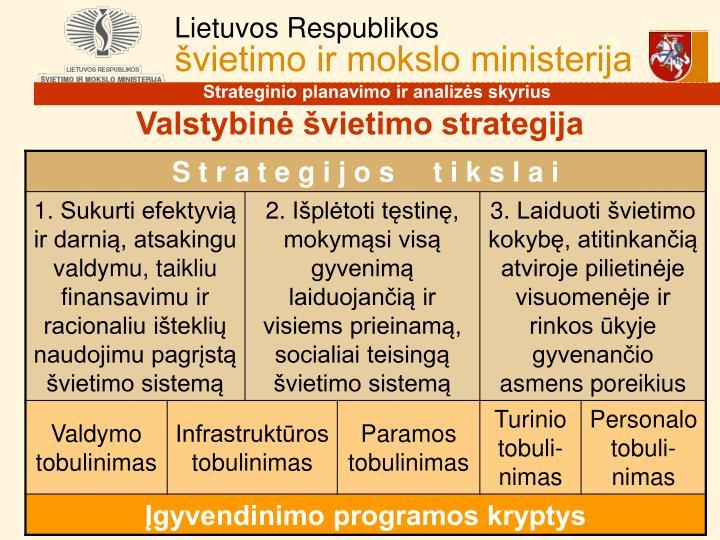 Valstybinė švietimo strategija