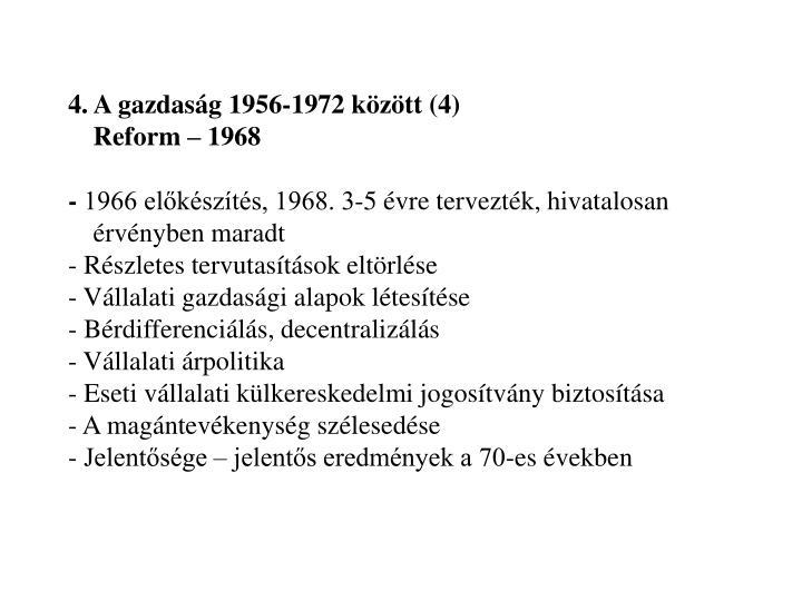 4. A gazdaság 1956-1972 között (4)