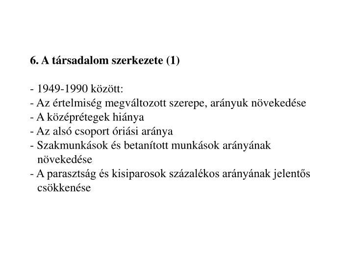 6. A társadalom szerkezete (1)