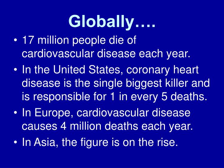 Globally….