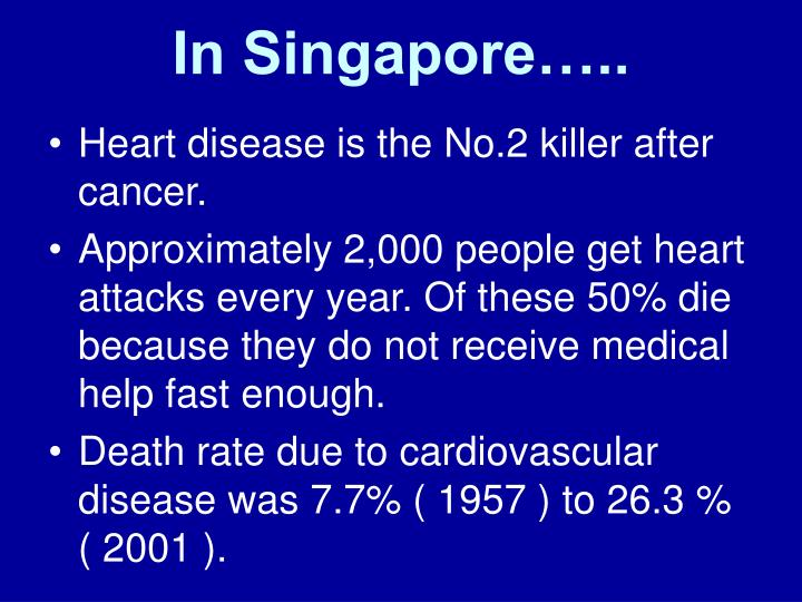 In Singapore…..