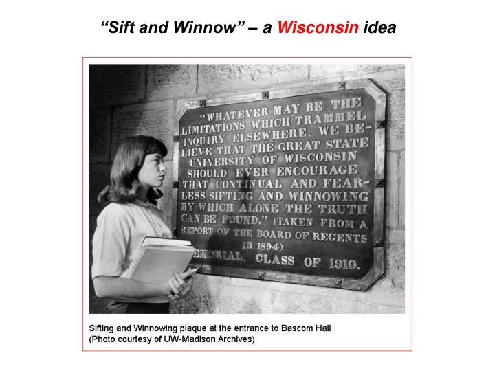 """Sift and Winnow"" – a"
