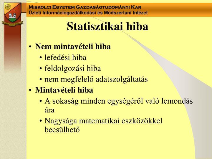 Statisztikai hiba