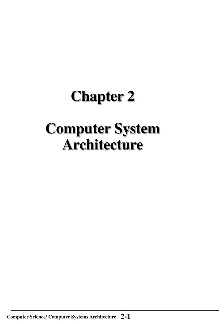 Chapter 2 computer system architecture