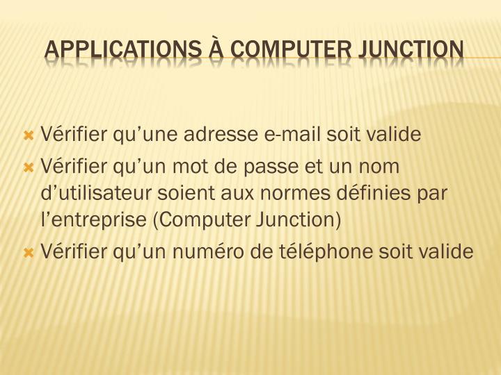 Vérifier qu'une adresse e-mail soit valide