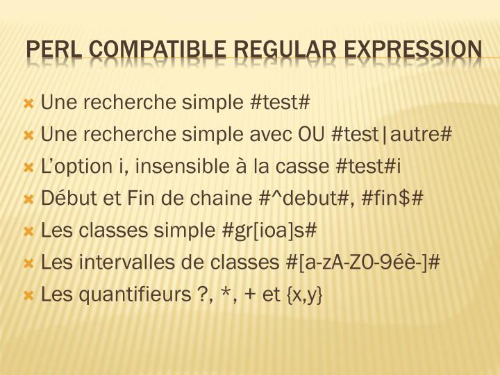 Une recherche simple #test#