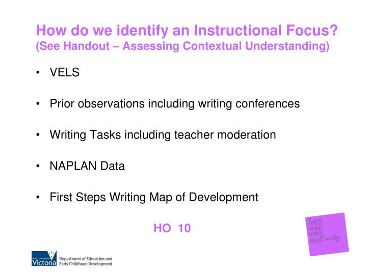 How do we identify an Instructional Focus?