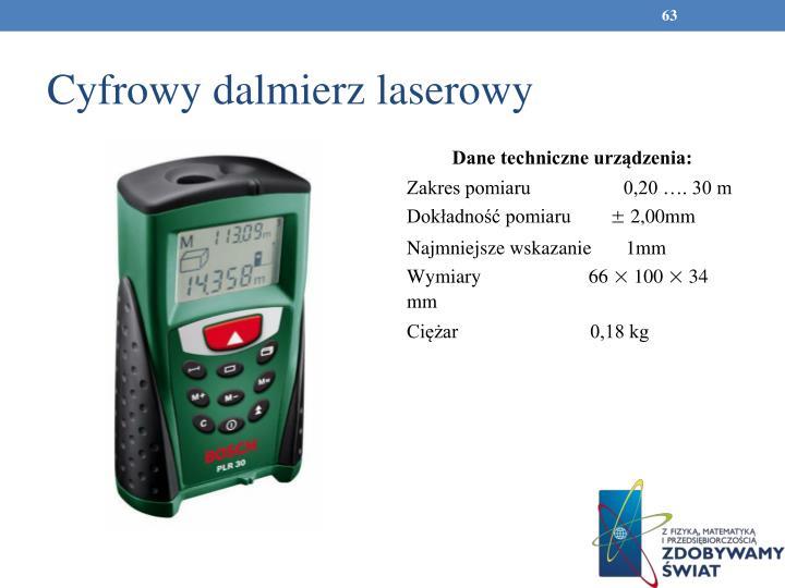 Cyfrowy dalmierz laserowy